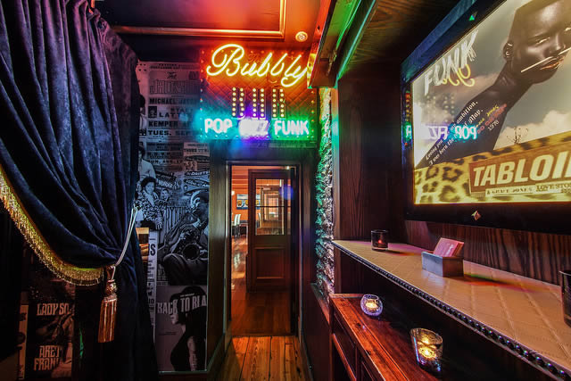 Walkway to Bubbly Bar