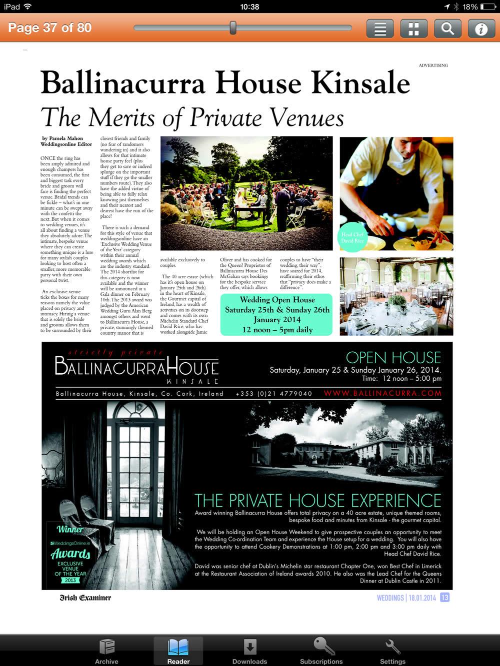 The Irish Examiner – January 18, 2014
