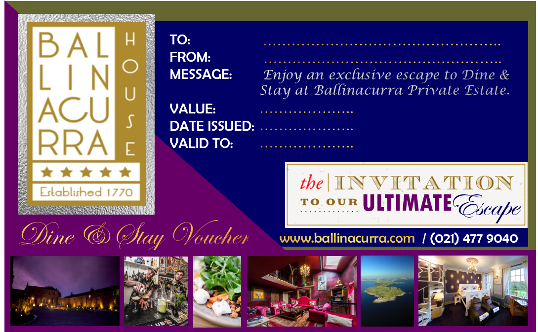 Introducing the Chic Dine & Stay Voucher at Ballinacurra House Kinsale